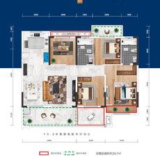益宏·澴公元3/6#楼D户型户型图