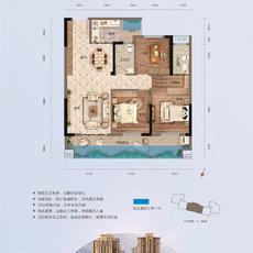 萬錦城16號樓D3戶型戶型圖