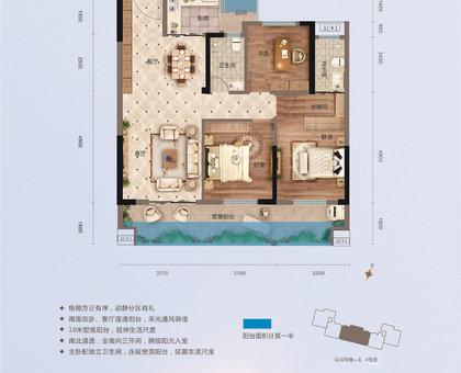 萬錦城16號樓D3戶型