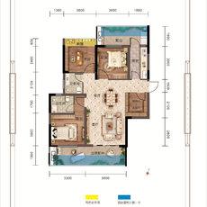万锦城G13号楼D1户型户型图