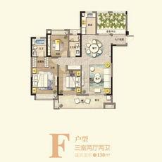 滔古·清枫院1/2#楼F户型户型图