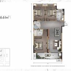 佳磐瑞府8#楼A8户型户型图