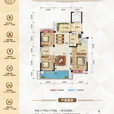 碧水园·锦城C户型112.58㎡户型图