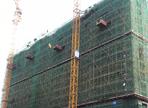 鴻基金色年華7月工程進度:1#樓建至12層