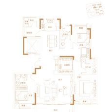 崇文广场·玖璋院6/7#楼建面约169-172㎡户型图