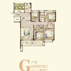 滔古·清楓院4#樓G戶型戶型圖