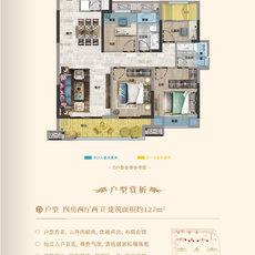 鸿基金色年华5/6/7#楼D户型户型图