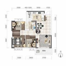 恒大城11#楼建面约102.63㎡户型图