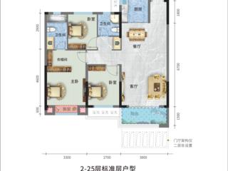 荣怀·及第世家E地块B1-3户型图