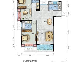 荣怀·及第世家E地块D2-1户型图