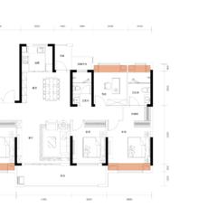 兴华·尚都学府3号楼A1户型户型图