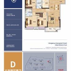 现代·森林国际城|仙北D户型户型图