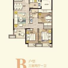 滔古·清楓院2#樓B戶型戶型圖