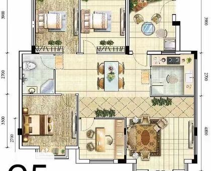 海川·梧桐郡洋房 5#楼建面约135.13㎡