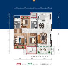 益宏·澴公元3/6#楼A户型户型图