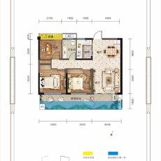 万锦城G13号楼D2户型户型图