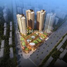 汉川·银湖天街鸟瞰图
