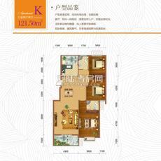 东方世纪城3#楼K户型户型图