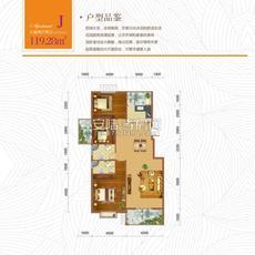 东方世纪城3#楼J户型户型图