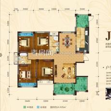 中建·国际花园二期(尚都)二期J户型户型图