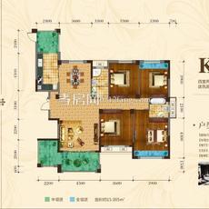 中建·国际花园二期(尚都)二期K户型户型图