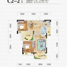 海纳·中央公园1#-C2-2户型图