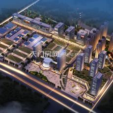 天门承天国际新城夜景图