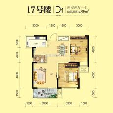 满庭春MOMΛ--17#-D1户型