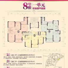 恒大帝景8号楼一单元户型图