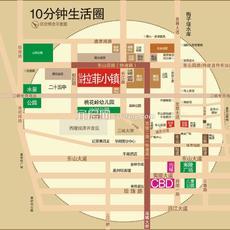 弘洋·拉菲小镇区位图