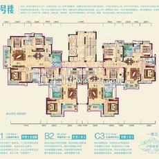 兴润秋语台1号楼一单元户型图