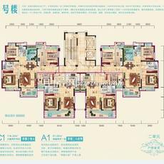 兴润秋语台1号楼二单元户型图