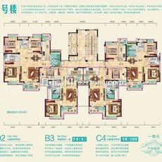 兴润秋语台2号楼一单元户型图