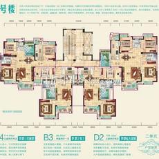 兴润秋语台2号楼二单元户型图
