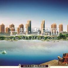 珞珈蓝湾鸟瞰图