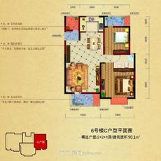 汇金国际商铺6号楼C户型户型图
