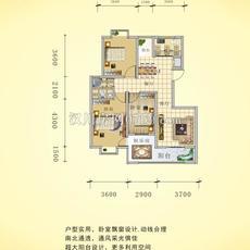 阳光城四期—水岸花都15号楼A1户型户型图
