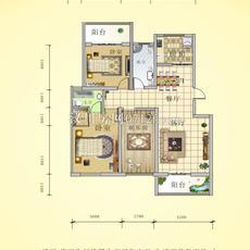 阳光城四期—水岸花都15号楼D户型户型图