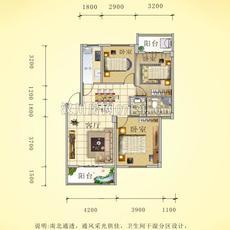 阳光城四期—水岸花都8号楼F户型户型图