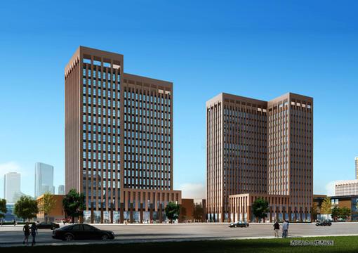 酒店及辦公樓透視圖