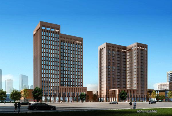 酒店及办公楼透视图