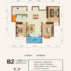 金江星城B2戶型戶型圖