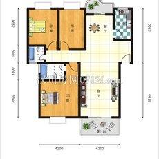 幸福家园121.96平米户型图