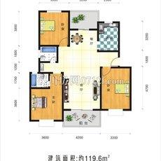 幸福家园119.6平米户型图