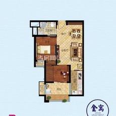 寰城·南方国际商城金装公寓B户型图