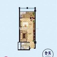 寰城·南方国际商城金装公寓A户型图