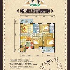 惠丰·首怡绿地4B户型图