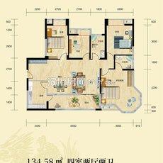中央錦城D-2戶型圖