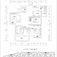 滨湖城市花园5号楼08 户型图