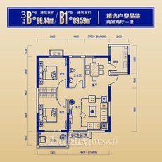 城图·锦江国际3栋B户型户型图